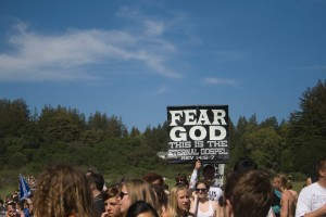 I don't fear God, I do fear the fact that you are allowed to vote.